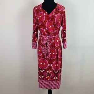 Adrianna papell large faux wrap red dress